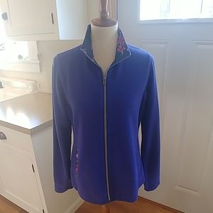 TOMMY BAHAMA Blue Full Zip Cardigan Sweater M